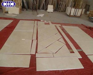 "Polished 24""x24"" Spanish cream marfil marble"