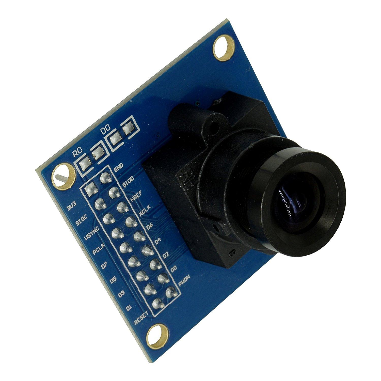 OV7670 Image Sensor Processor VGA Camera Module with Saturation, Hue, Gamma and White Balance Adjustment Capability from Optimus Electric
