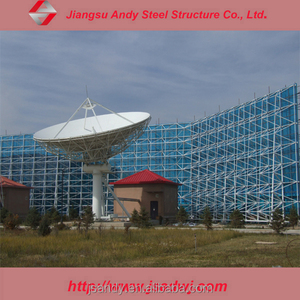 Solar power station steel space frame structure