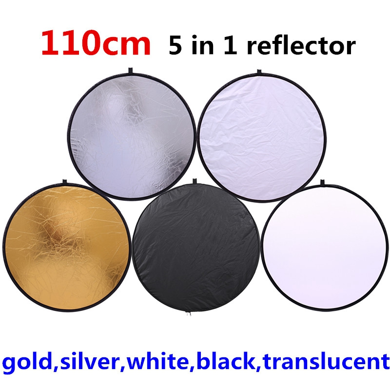 43'' 110CM 5 in 1 reflector high quality Portable Collapsible Light Round Photography Reflector for Studio Multi Photo Disc