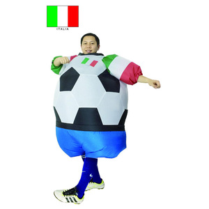 Italian Inflatable Football Costumes adult ball mascot costume Soccer ball carnival Halloween Costumes For adults