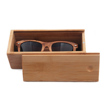 FP-BC034 Bamboo Wooden Sunglasses Case Box with Drawer Cover Lid