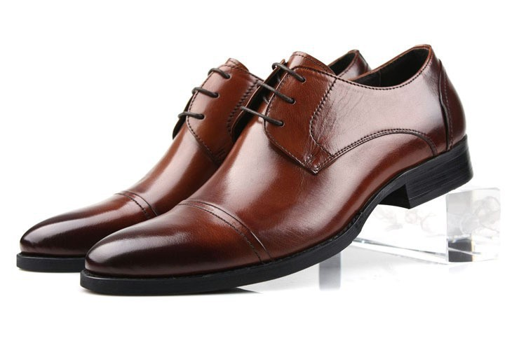 New 2015 mens shoes oxfords top quality brown&black cowhide genuine leather men shoes men dress italian leather shoes size:38-44