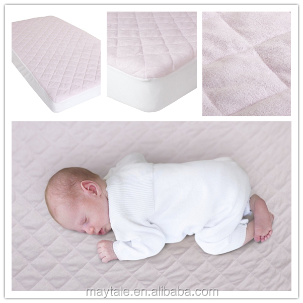 100 terry cotton waterproof cot mattress protector cover