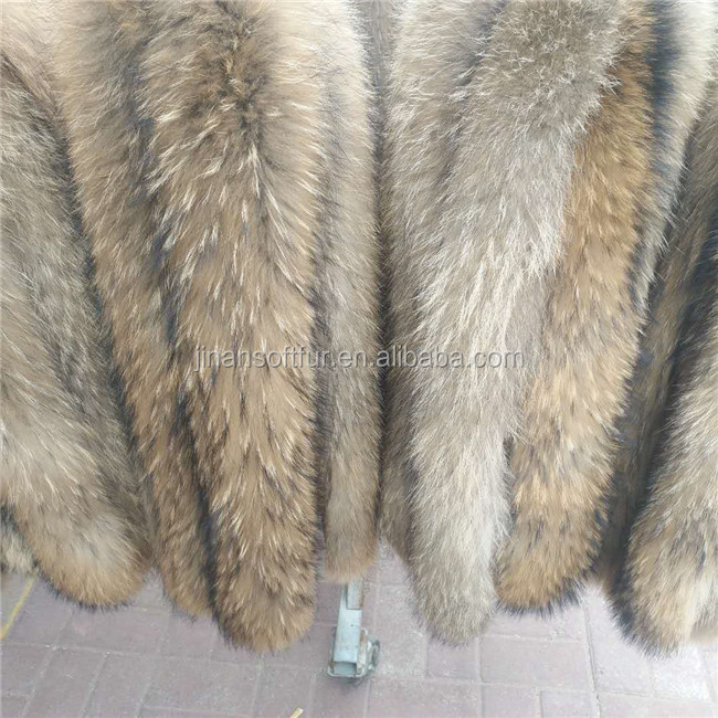 High quality Real Raccoon Fur Trim For Hood