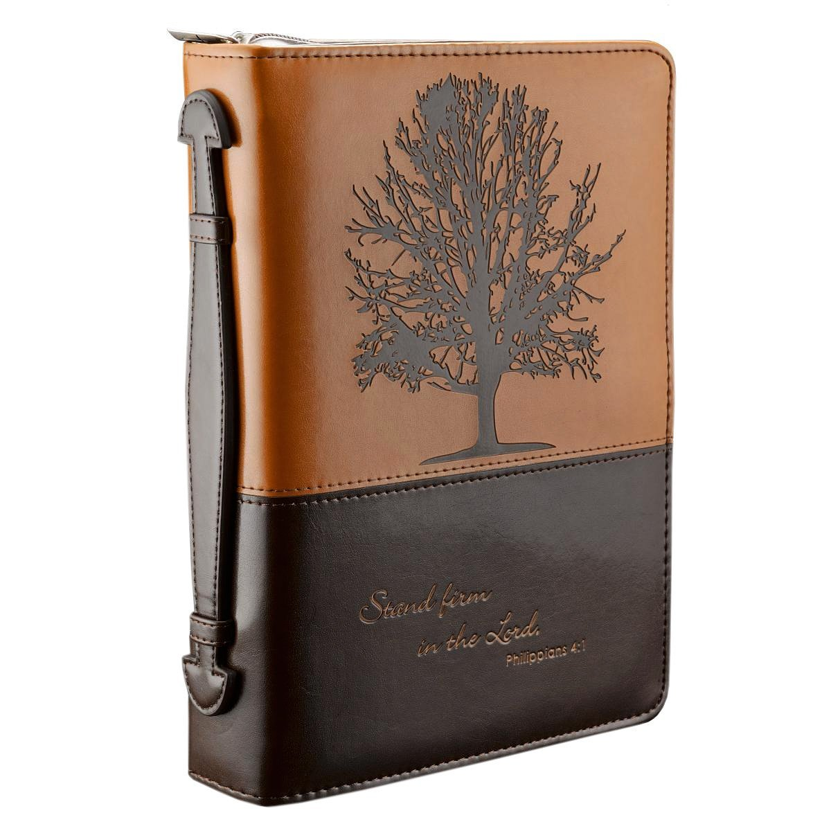 "wholesale leather bible cover,leather book cover of the bible for "" Stand firm in the Lord"""