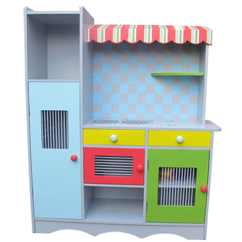 Bnin Play Kitchen Pretend Play Pastel Colour Toddlers Kitchen Toy Cubby  House - Buy Kids Wooden Kitchen Sets Toy,Educational Pretend Play Kitchen  ...