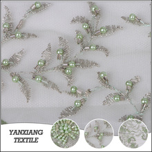 Thailand popular design tulle george textile lace fabric
