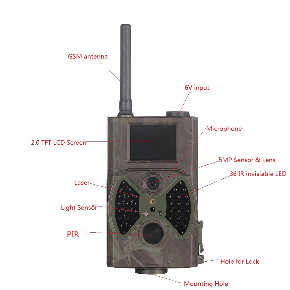 12mp Outdoor Infrared PIR camera GSM MMS GPRS for hunting and security