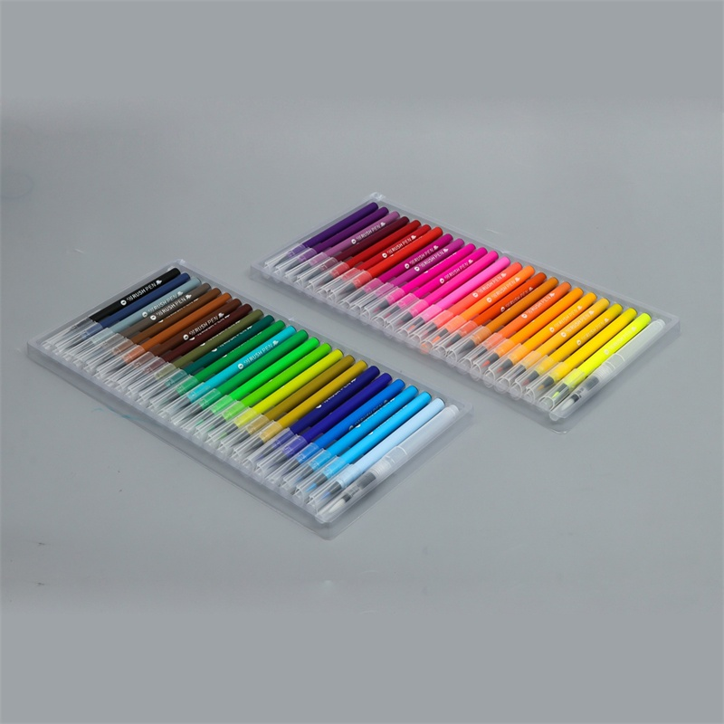 48 colors real brush tip water color brush pen set