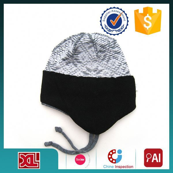 Professional Factory Supply Good Quality lovely knitted baby knitted hat with flower for sale