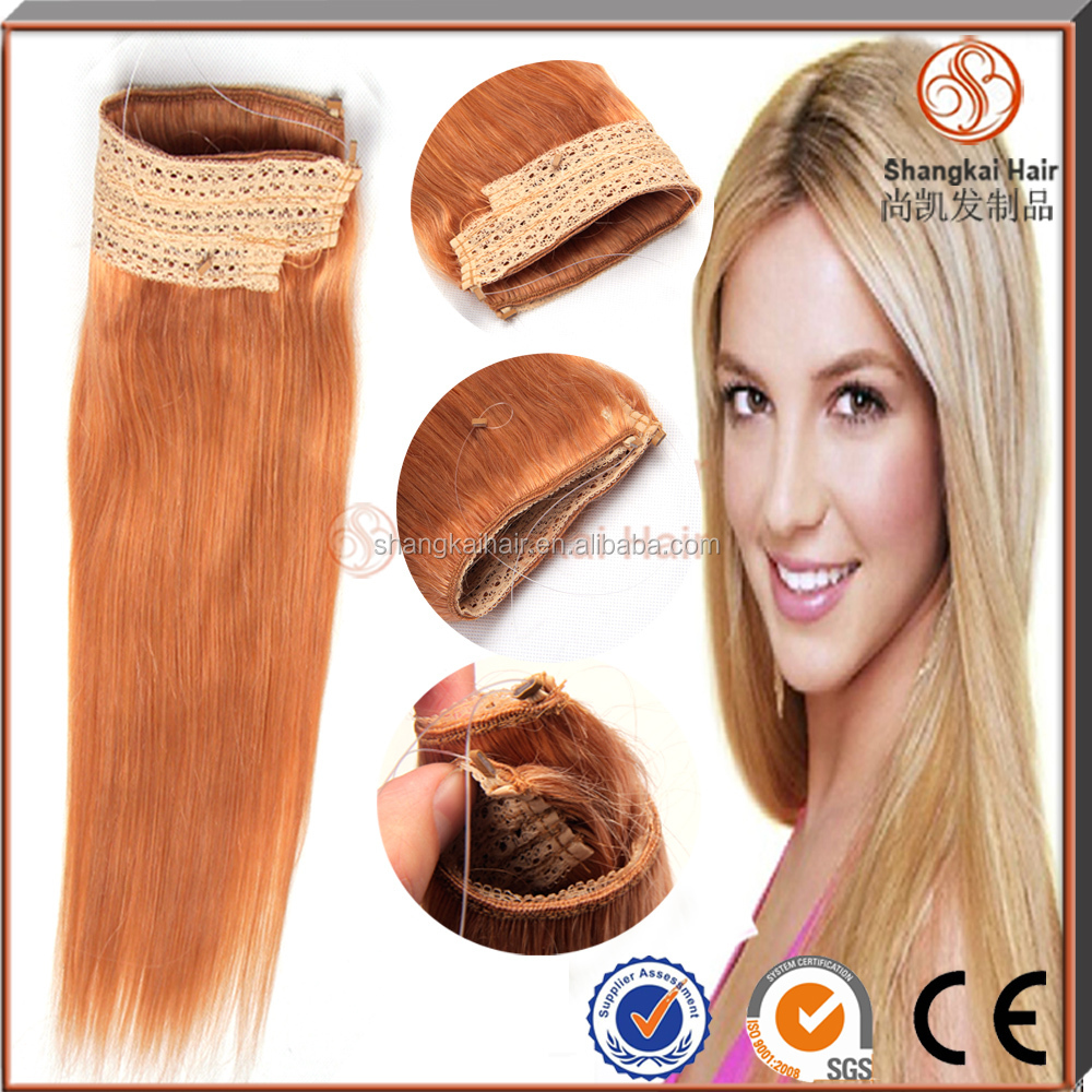 Halo Hair Extension 100 Human Remy Hair Fish Wire Hair Extensions