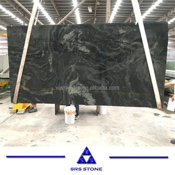 Milky way green marble slabs with two veins marble tile for floor and wall