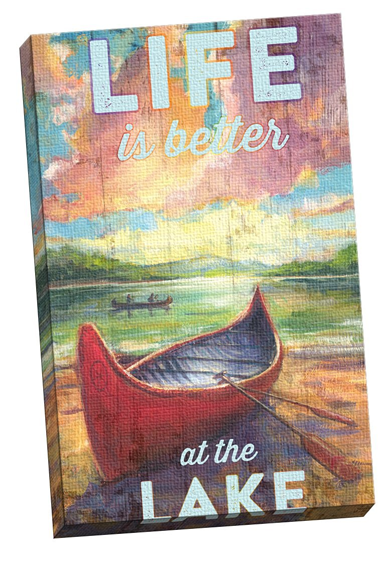 """Portfolio Canvas Decor Summer Life at the Lake by Geoff Allen Large Canvas Wall Art, 24 x 36"""""""