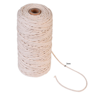 3 mm 200 m Twisted Natural Cotton String for Handmade