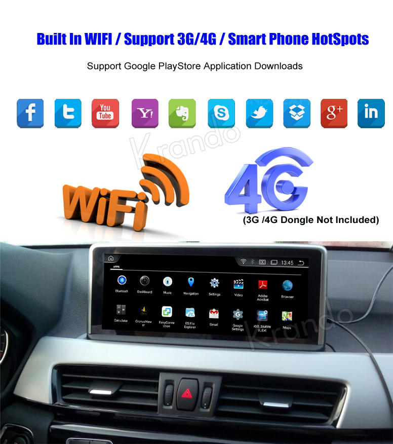 Krando 10.25'' android car radio multimedia for bmw F20 F21 F22 F23 F45 navigation with gps system