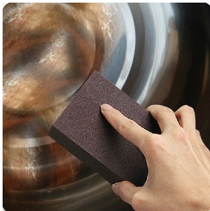 Kitchen Emery Magic Rust Removal Sponge,Hot Sell Carborundum Brush Kitchen Washing Cleaning Sponge,Emery Carborundum Sponge