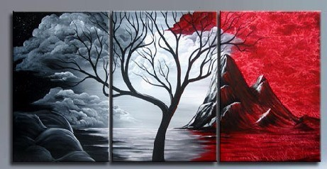 Perfect Home Decoration Art Painting For Blackwhite And Red Colour
