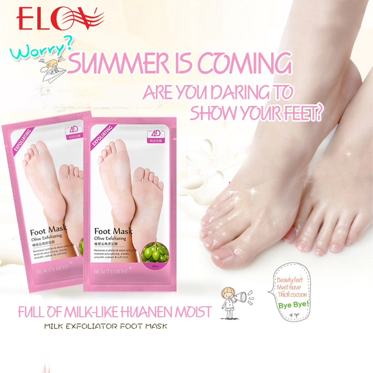 2017 Hot Selling Moisturizing Repairing&Exfoliating Peeling Foot Mask Spa Socks Exfoliating Callus Remove Dead Skin sock
