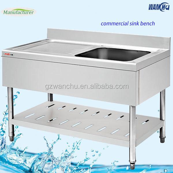 Terbaik Merek Dapur Stainless Steel Sink Meja Kerja Di Malaysia Komersial Kitchen Bench Dengan