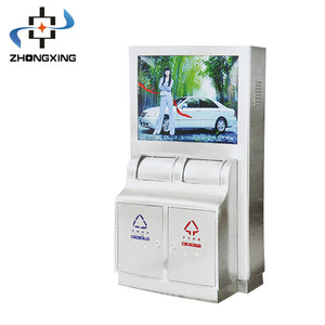 outdoor trash advertising can with light box