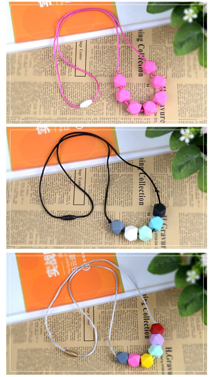 China Manufacturer silicone teething necklace baby