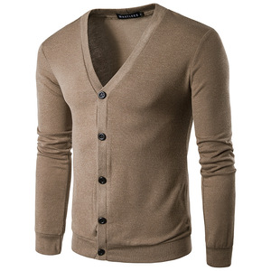 Cotton Mens Pure Color Knitted Designer Sweater Cardigans