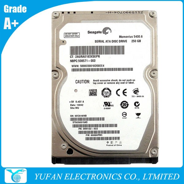 ST9250315AS 250GB 5400RPM Hard Disk Drive HDD for Seagate Momentus