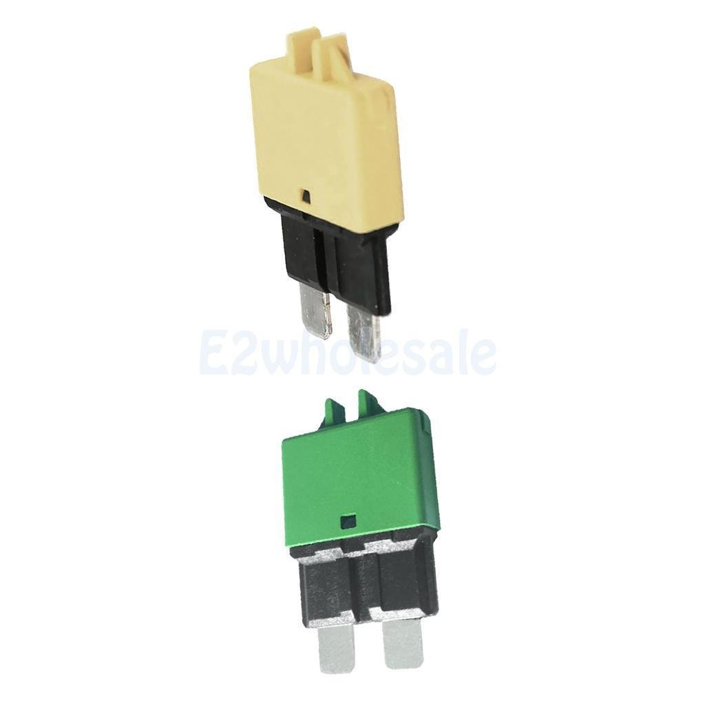 2pcs Automatic Resettable Fuse Auto Marine Circuit Breaker Blade 30A 20A 12V