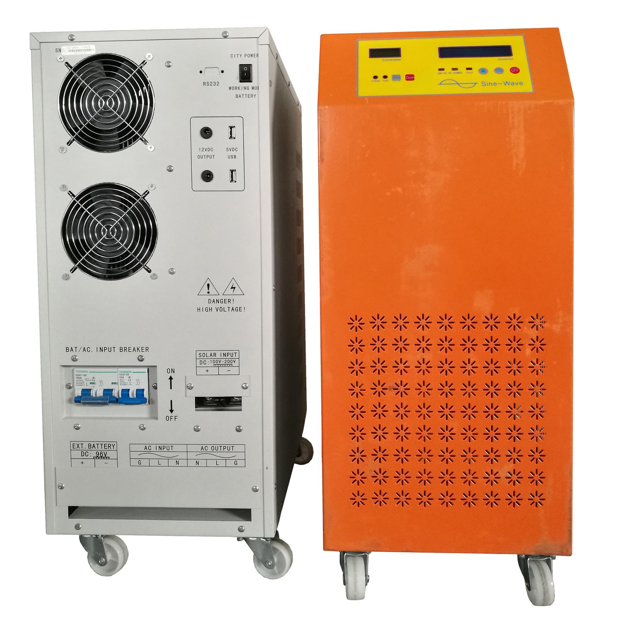 10kva 10kw Dc Ac Solar Power Inverter 20kva 220v Portable Generator Powered Electric 12v Short Circuit Protection For Sale 200ah Batteries 6kva