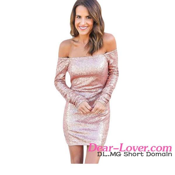 818a20354382 Wholesale Fashion Green Sparkle Sequin Mini Hot Club Sexy Bodycon Dress