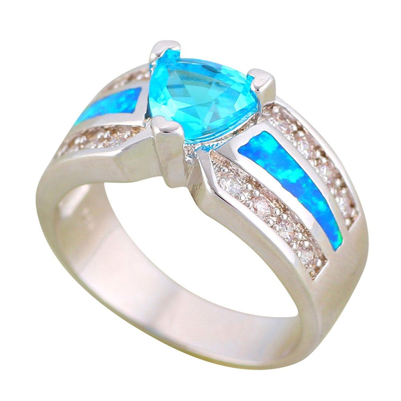 F/&F Ring Shining White Round Zircon Finger Ring Jewelry for Women//Men Wedding Engagement Rings