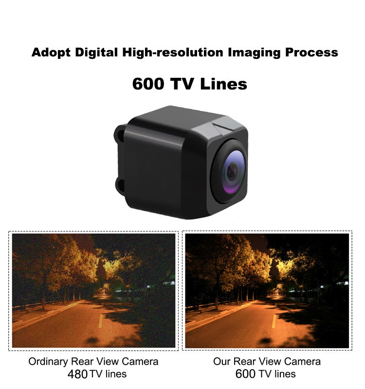 IP67 Waterproof HD Car Rear View camera guide line optional reversing car camera