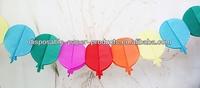 Balloon Tissue Paper Garland Pink Paper Garland Decoration 3m - Baby Shower, Wedding party decoration new Valentines Decorations