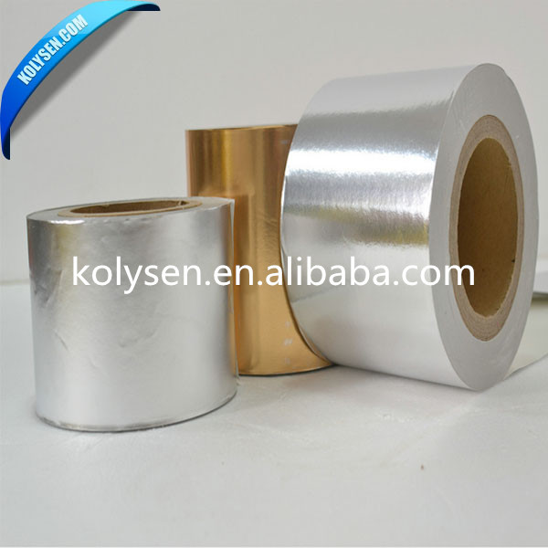 gold and silver laminated aluminum foil cigarette packing paper