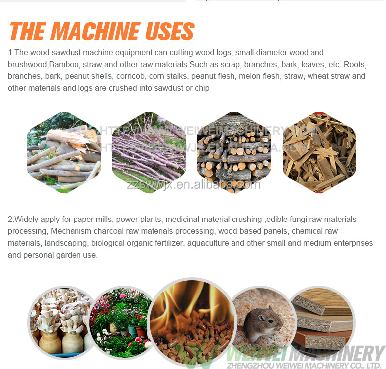 Sawdust log making machine