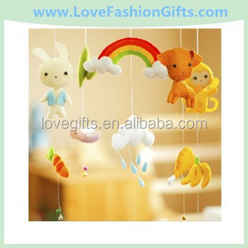 Baby Crib Mobile Nursery Decor Handmade Felt Wood Forest