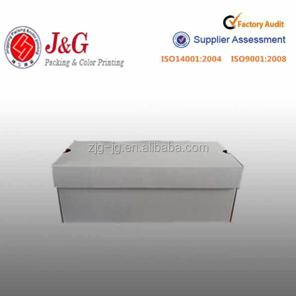 Custom design white cost-effective retail packaging paper box for shoes