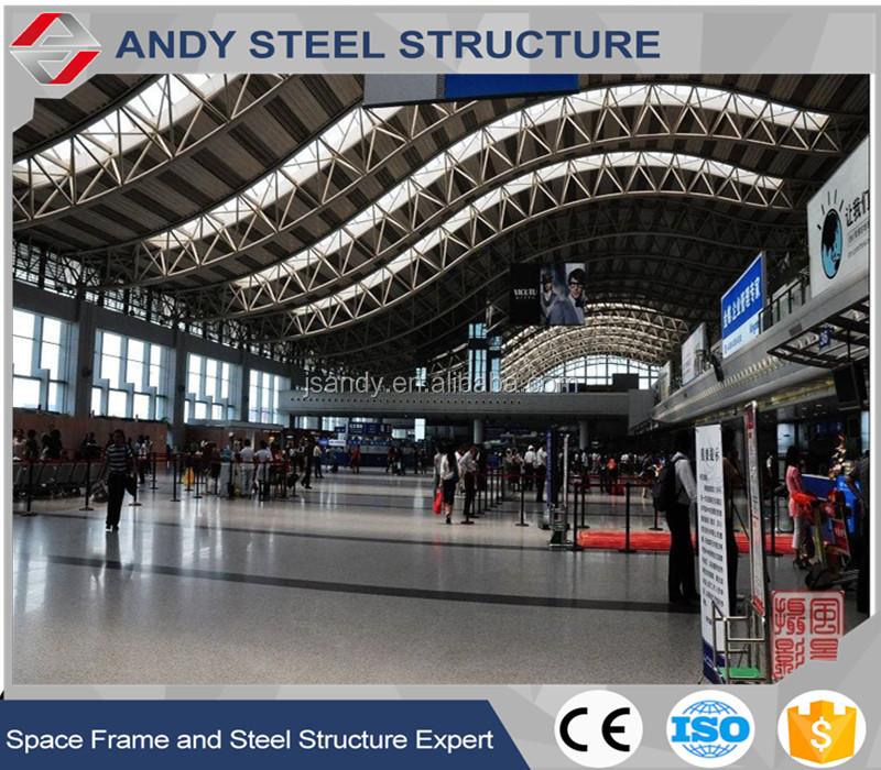Prefabricados Arco De Acero Techo Truss Estructura Aeropuerto Sala ...
