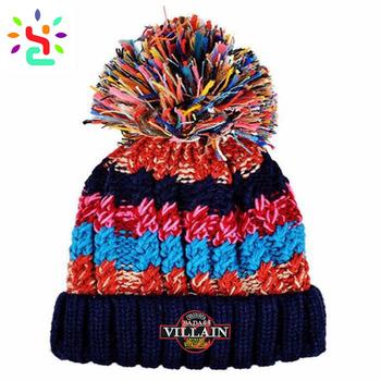Women Bobble Hat Free Rasta Hat Crochet Pattern Winter Knitted Hat