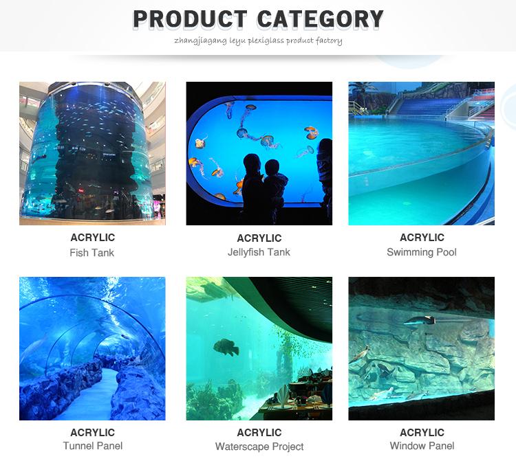 Leyu Aangepaste Acryl Panelen voor Zwembad Outdoor