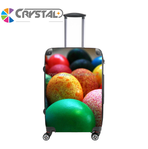 Customized Design cabin size 100% PC luggage / travel suitcase / 4 wheel trolley bag