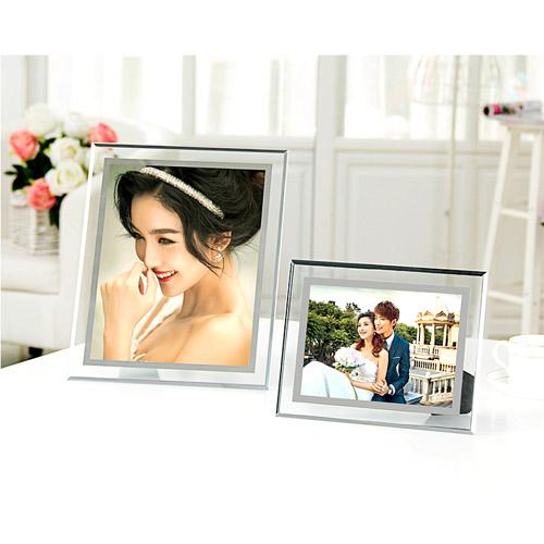 Customized elegant acrylic photo frame for wedding or memorialize