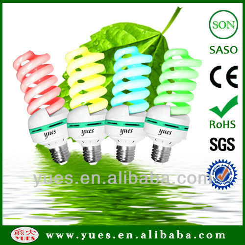 colorfull full spiral 40W energy saving clf light bulb with price