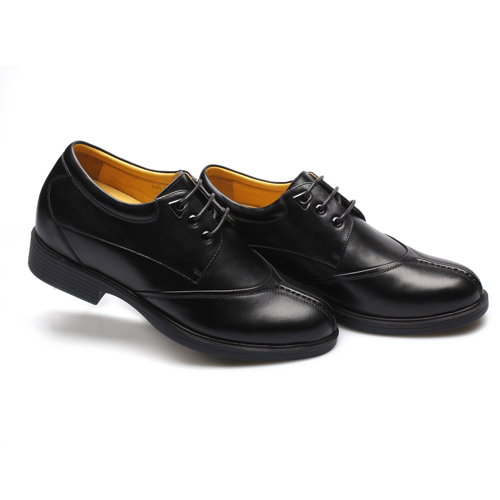 Soft Taller Business Leisure Loafers Black Men Shoes Dress Leather 0vq0ZI