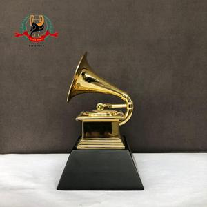 2019 custom golden customized replica grammy award trophy made in china for awards