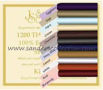1500 Thread Count Bed Sheets JS Sanders Luxury Bedding