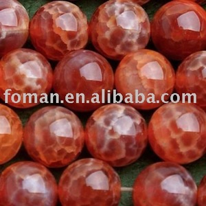 10mm round faceted fire agate wholesale semiprecious stones