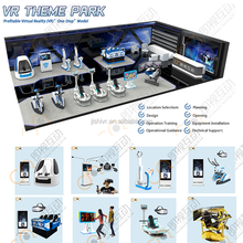 Jishi VR Theme Park 9d VR One Stop Game Center Solutions for Virtual Reality Experience with Different kinds of VR Game Machine
