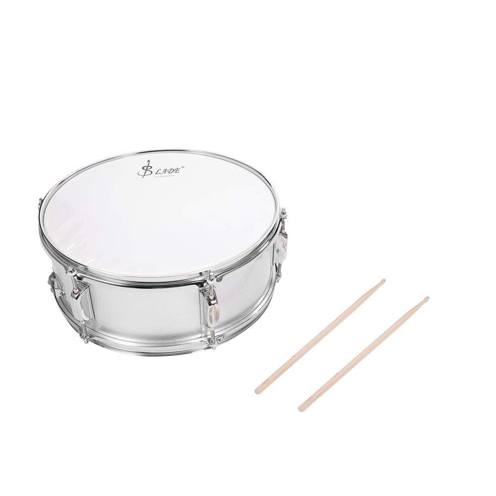 Snare Drum, Professional Stainless Steel Drum Body PVC Drum Head Snare Drum Kit with Drum Bag Strap Drumsticks